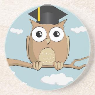 Graduate Owl Beverage Coaster
