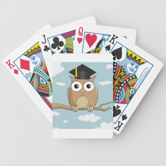 Graduate Owl Bicycle Playing Cards