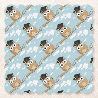 Graduate Owl Paper Coaster