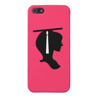 Graduate Pink Silhouette iPhone 5 Case