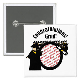 Graduate Receiving Diploma (2) Photo Frame 2 Inch Square Button