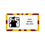 Graduate Receiving Diploma (2) Red & Gold Address Label