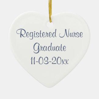 Graduate Registered Nurse/Personalize Name Ceramic Ornament