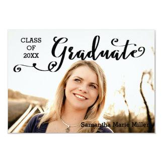 Graduate Script - 3x5 Graduation Announcement