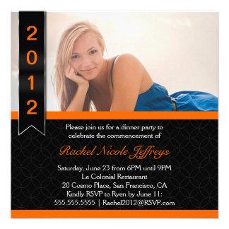 Graduate Scroll 2012 Photo Graduation Invitation
