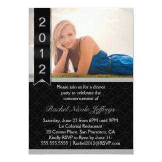 Graduate Scroll 2012 Photo Graduation Invite 5 x 7