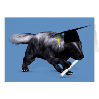 Graduate Skunk Greeting Card