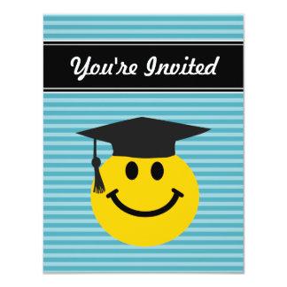 "Graduate smiley face 4.25"" x 5.5"" invitation card"