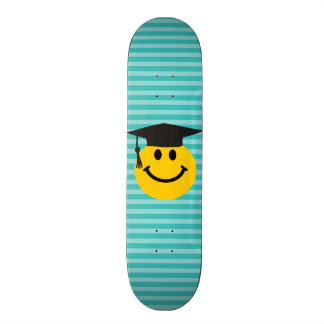 Graduate smiley face skate board decks