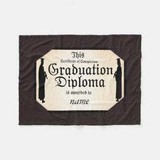 Graduate Standing Tall Diploma Fleece Blanket