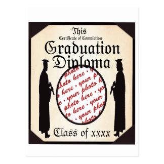 Graduate Standing Tall Diploma Frame Post Card