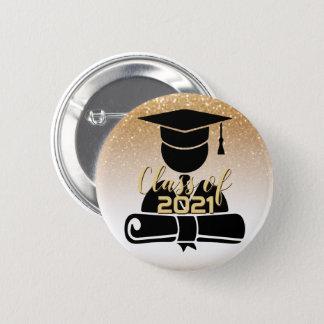 Graduate Student - Class of 20XX - Gold Glitter 2 Inch Round Button