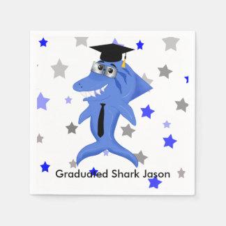 Graduated Shark party Paper Napkin