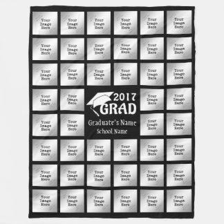 Graduate's 44-Photo Collage (for Dark Background) Fleece Blanket