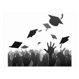 Graduates graduation crowd postcard