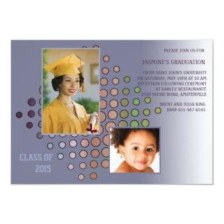 Graduating Colors Photo Graduation  Invitation