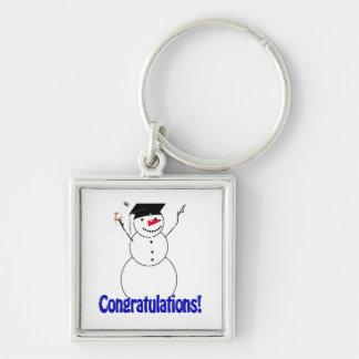 Graduating Snowmen - Congratulations! Keychain
