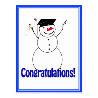 Graduating Snowmen - Congratulations! Postcard