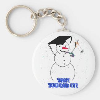 Graduating Snowmen - YAY! You did it! Keychains