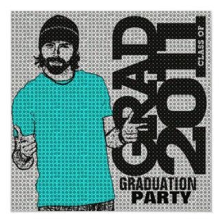 Graduation 2011 Party Invitation Cartoon Photo 1