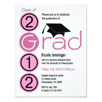 Graduation 2012 Invitation Cap185 Pink