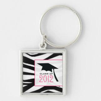 Graduation 2012 Zebra Print Keychain