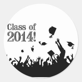 Graduation 2014 round sticker