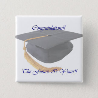 Graduation 2 Inch Square Button