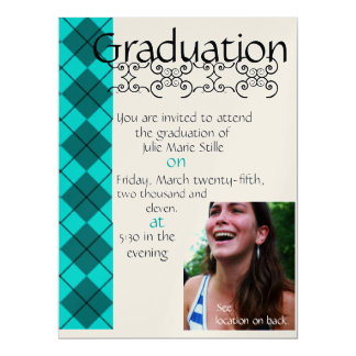 "Graduation 6.5"" X 8.75"" Invitation Card"