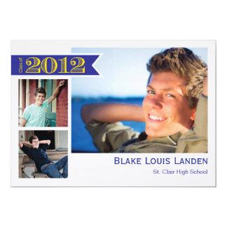 Graduation Announcement Class of 2012  |  Blue