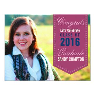 Graduation Annouoncement Invite Ribbon Banner