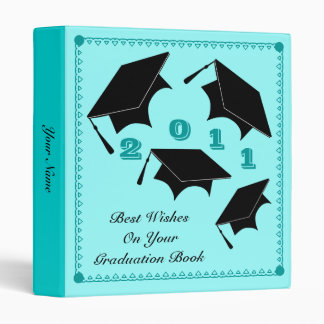 Graduation Autograph Book Binder Blue 1