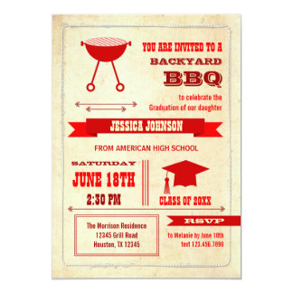 Graduation Backyard BBQ Invitation