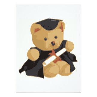"Graduation Bear 6.5"" X 8.75"" Invitation Card"