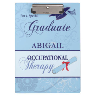 Graduation Blue Swirls, Vertical Gift Clipboards