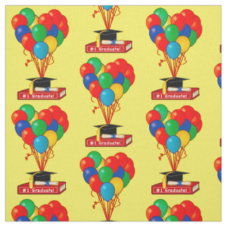 Graduation Book, Heart, Balloons, Diploma Fabric