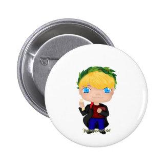 Graduation Boy Blonde (A) 2 Inch Round Button