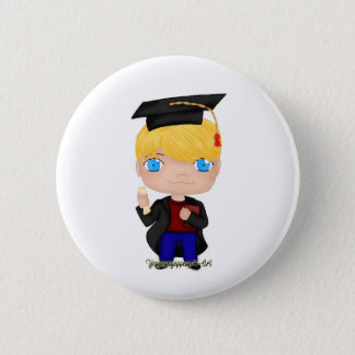 Graduation Boy Blonde (B) 2 Inch Round Button