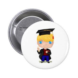 Graduation Boy Blonde (B) 2 Inch Round Button