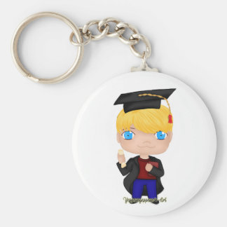 Graduation Boy Blonde (B) Keychain