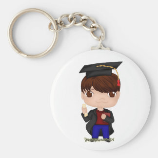 Graduation Boy Brown (B) Keychain