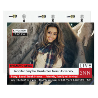 Graduation Breaking News Specialized TV Graphic Card