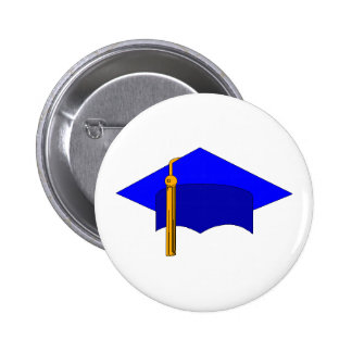 Graduation Cap 2 Inch Round Button