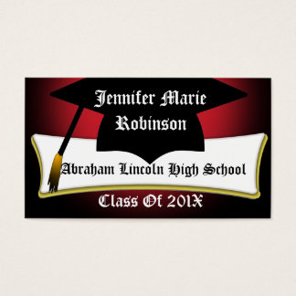 Graduation Cap And Diploma Graduate's Custom Card