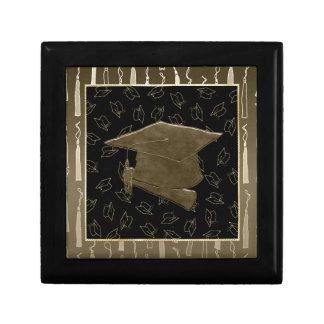 Graduation Cap and Diploma Mouse Pad, Brown, Black Gift Box