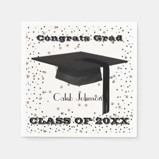 Graduation Cap Confetti Napkins Disposable Napkin