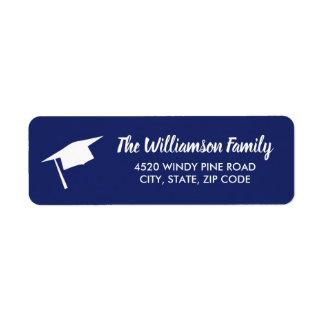 Graduation Cap Custom Color Return Address