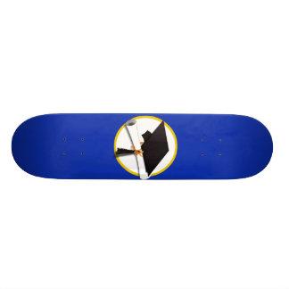 Graduation Cap & Diploma (1) Blue Background Skate Board Decks