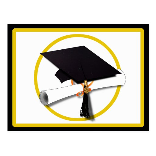 Graduation Cap & Diploma 1 Postcards