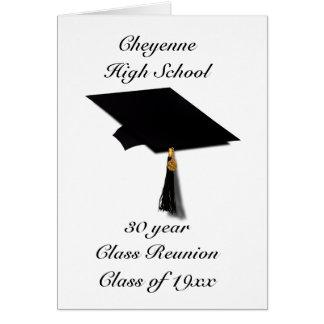 Graduation Cap - High School Class Reunion Card